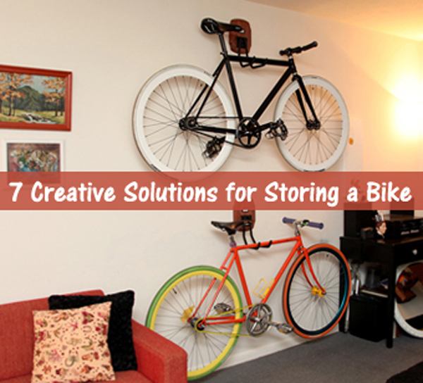 7 creative solutions for storing a bike- DIYscoop.com