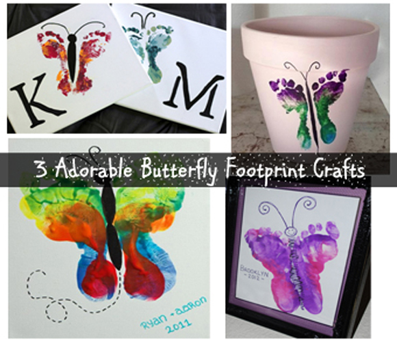 adorable butterfly footprint crafts- DIYscoop.com