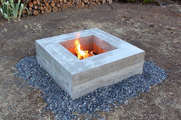 DIY concrete firepit