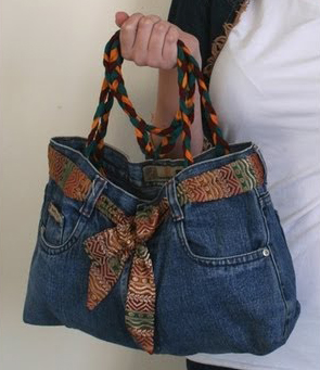 denim purse from jeans