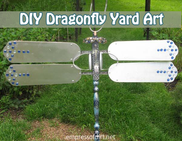 diy dragonfly yard art- DIYscoop.com