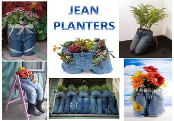diy jean planters- DIYscoop.com