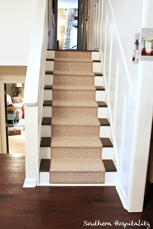 update stairs with carpet runner