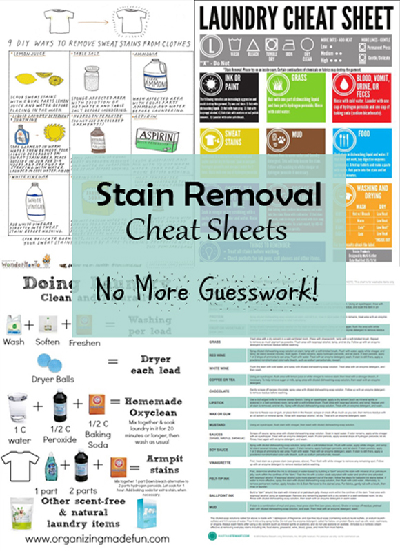 cheat sheets for stain removal-DIYscoop.com