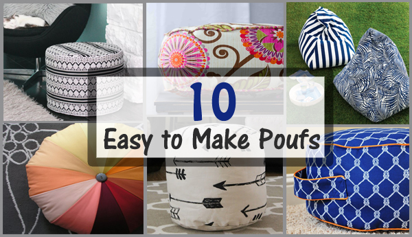 10 easy to make poufs- DIYscoop.com