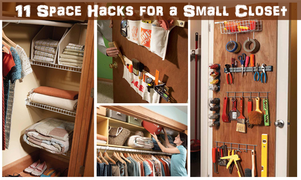 11 space hacks for a small closet- DIYscoop.com