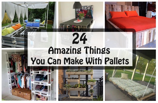 24 amazing things you can make with pallets diy scoop for What can u make out of pallets