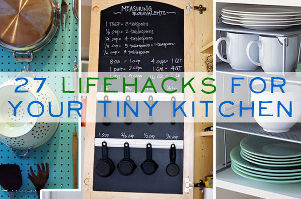 27 clever space hacks for a small kitchen- DIYscoop.com