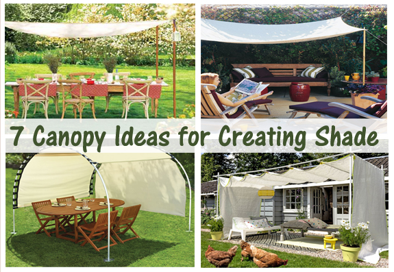 7 canopy ideas for creating shade- DIYscoop.com