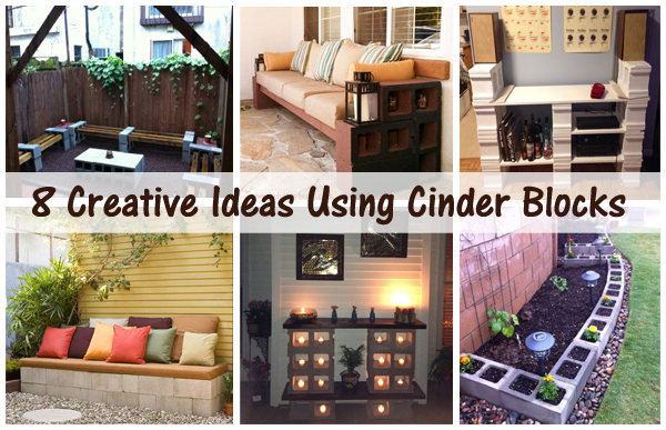 8 creative ideas using cinder blocks-DIYscoop.com