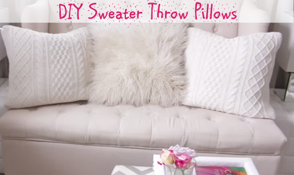 DIY sweater throw pillows- DIYscoop.com