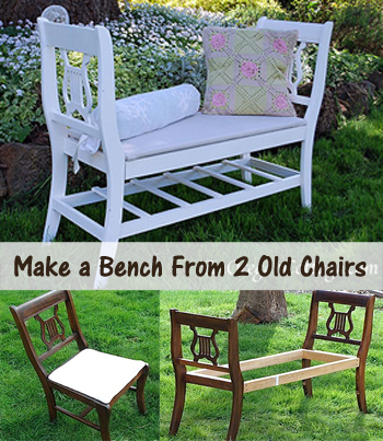 bench from old chairs - DIY.scoop
