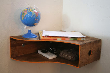 Ikea box used as corner shelf-DIYscoop.com