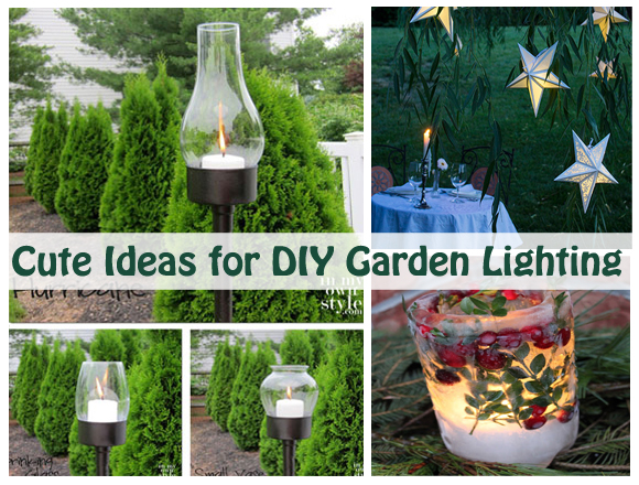 cute ideas for diy garden lighting- DIYscoop.com