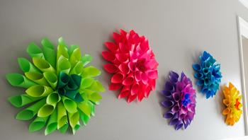make dahlia paper flowers -DIYscoop.com