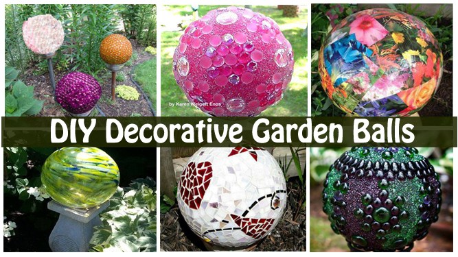 DIY Decorative Garden Balls DIY Scoop Stunning Decorative Globe Balls