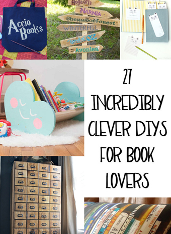 27 DIY projects for book lovers - DIYscoop.com