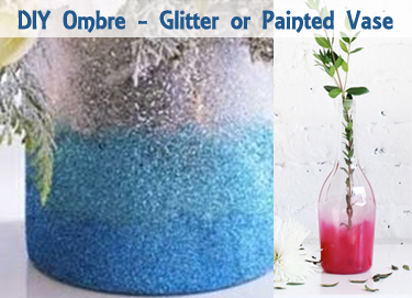 diy ombre glitter or painted vase - DIYscoop.com
