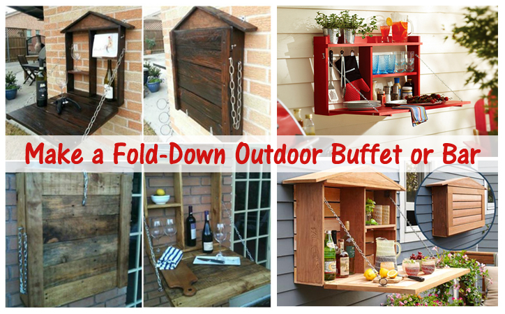 fold-down outdoor buffet or bar- DIYscoop.com