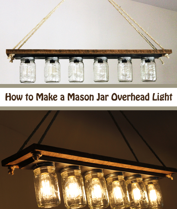 how to make a mason jar overhead light- DIYscoop.com