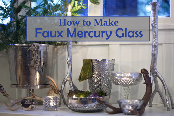 how to make faux mercury glass- DIYscoop.com