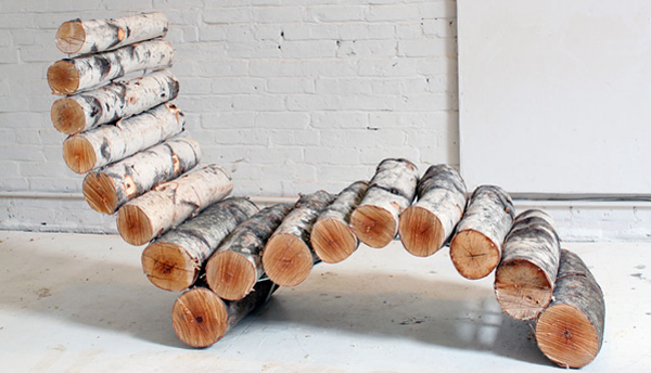 how to make a log lounge chair- DIYscoop.com