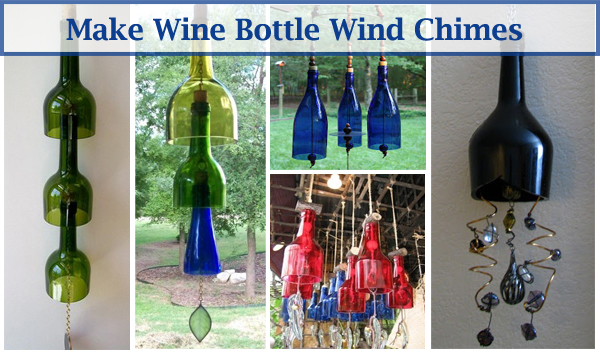 video make wind chimes with wine bottles diy scoop