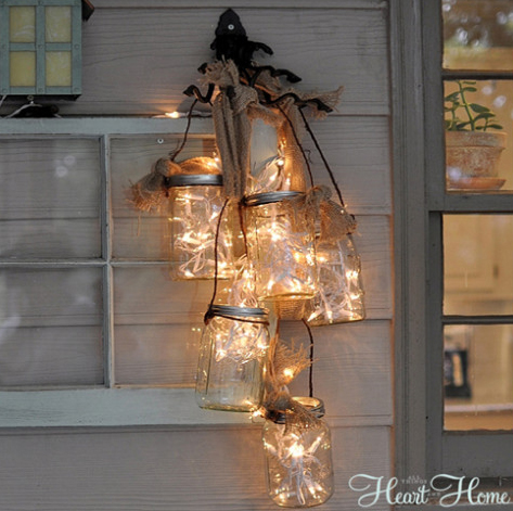 Hanging mason jar lights-DIYscoop.com