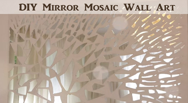 mirror wall art. mirror mosaic wall art- diyscoop.com art