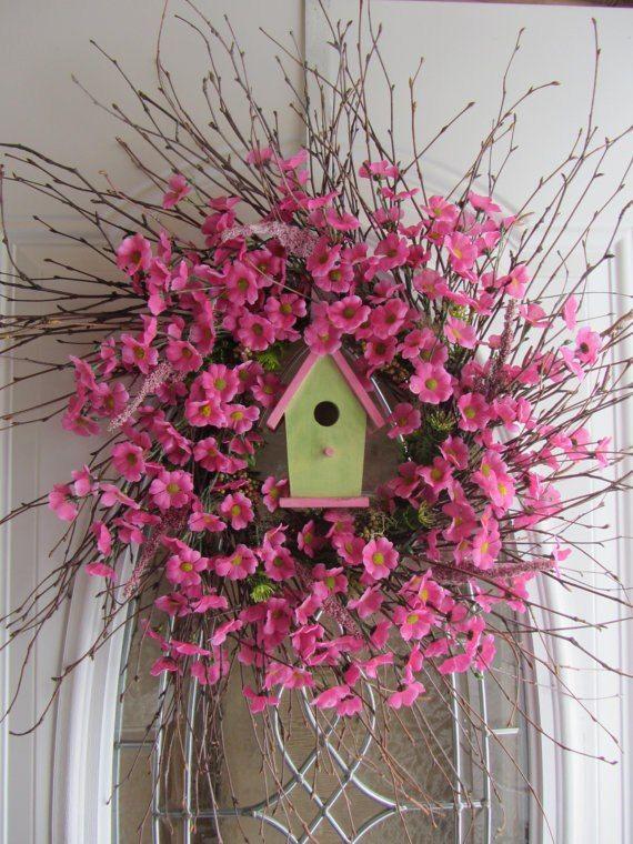 pink spring wreath- DIYscoop.com