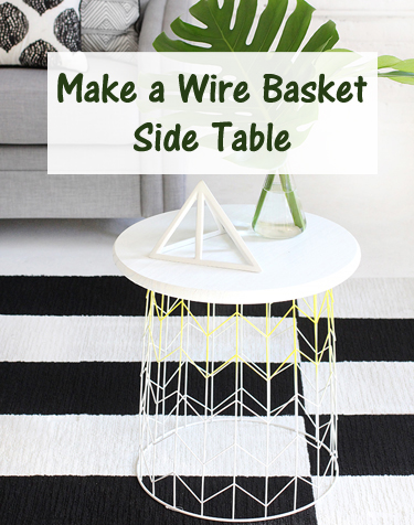 wire basket side table- DIYscoop.com