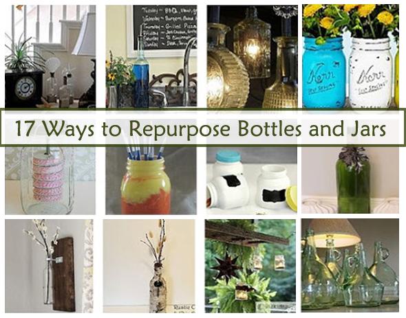 17 ways to repurpose bottles and jars- DIYscoop.com