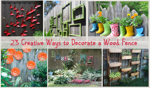 23 creative ways to decorate a wood fence- DIYscoop.com
