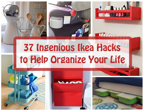 37 ingenious ikea hacks to help organize your life- DIYscoop.com
