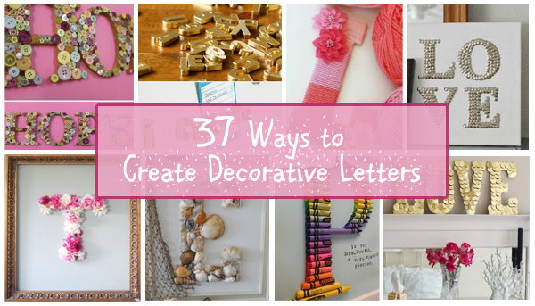 37 ways to create decorative letters- DIYscoop.com