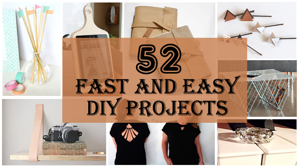 52 fast and easy diy projects- DIYscoopl.com