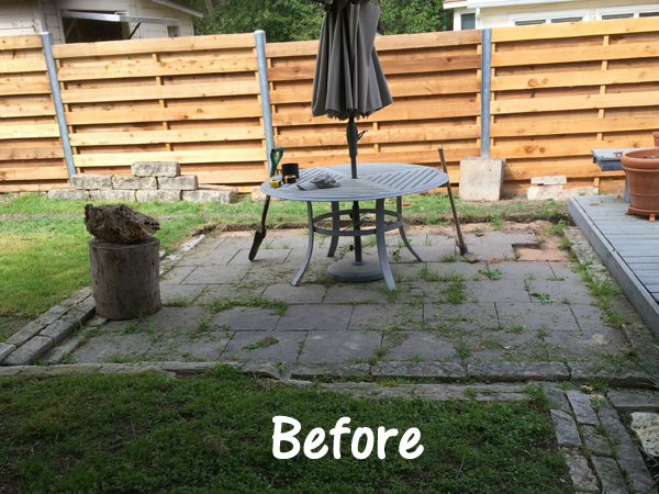 patio makeover- DIYscoop.com