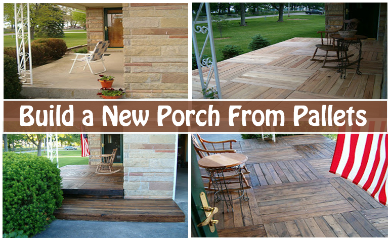 build a new porch from pallets- DIYscoop.com