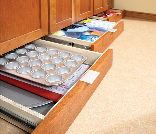 build drawers under your kitchen cabinets- DIYscoop.com