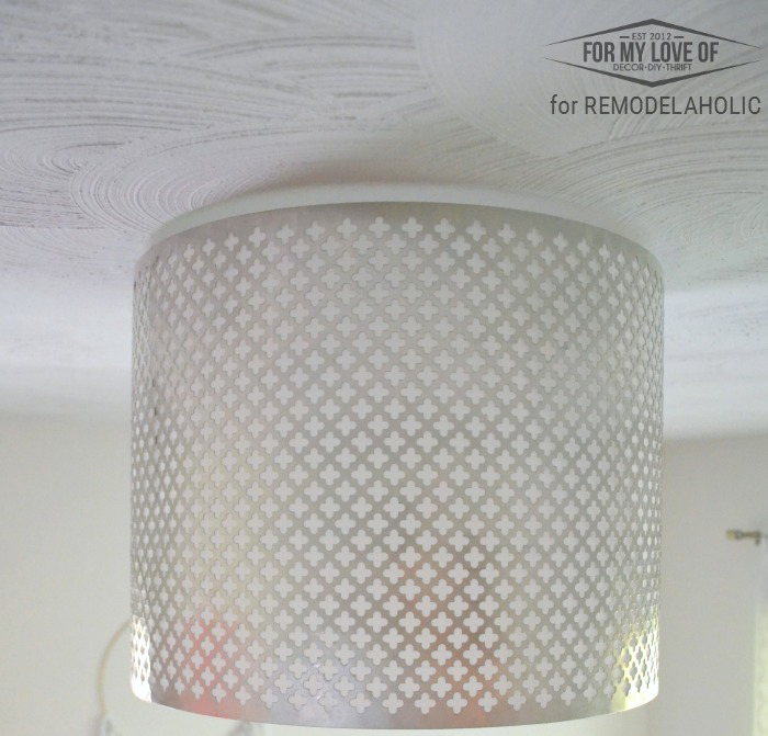 make a decorative ceiling light shade from punched metal