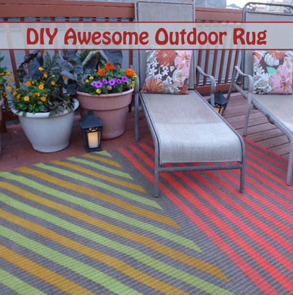 diy awesome outdoor rug- DIYscoop.com
