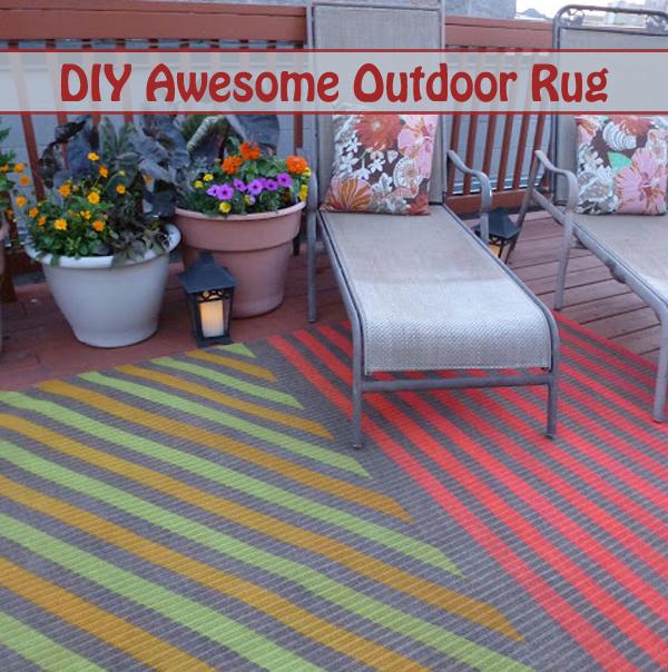 diy awesome outdoor rug- DIYscoop.com