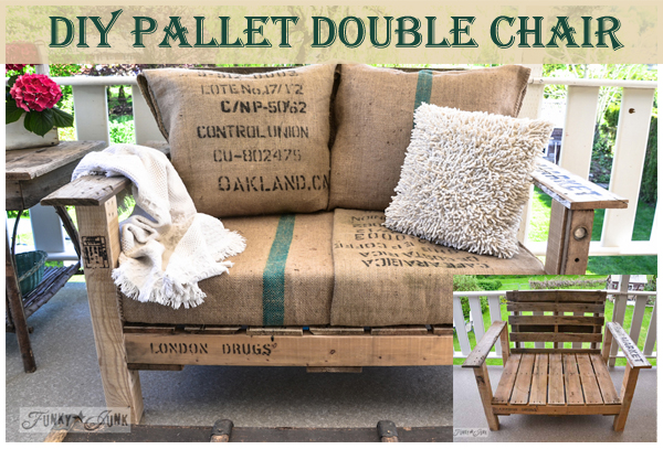 diy pallet double chair- DIYscoop.com