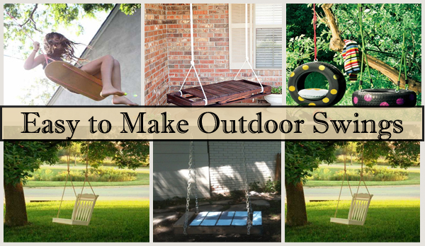easy to make outdoor swings- DIYscoop.com