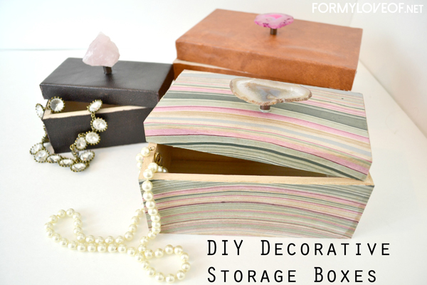 make a marble paper or leather covered box