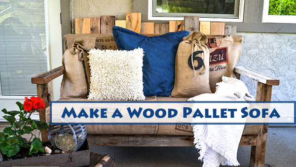 make a wood pallet sofa- DIYscoop.com