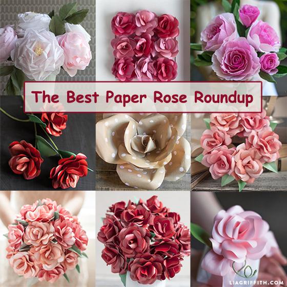 the best paper rose roundup- DIYscoop.com