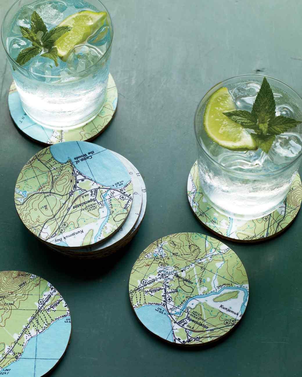 DIY Magnificent Map Coasters
