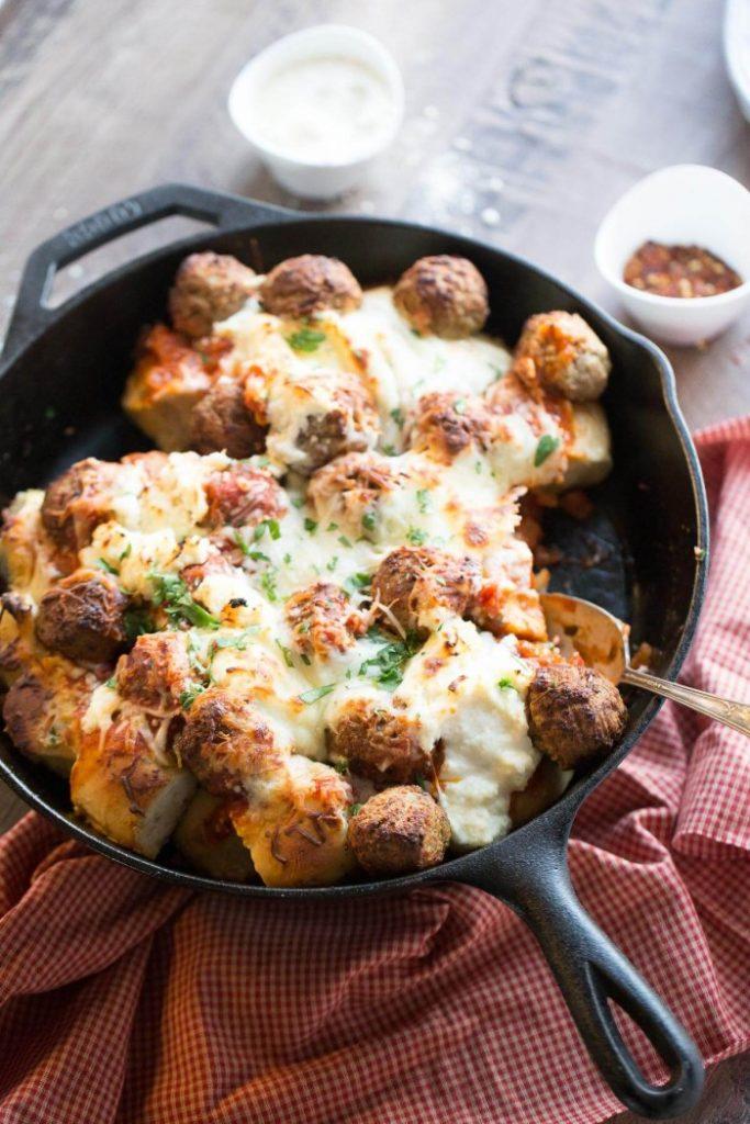 Easy-Italian-Meatball-Skillet-Bake-9-700x1050