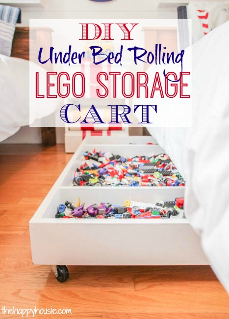 An Awesome Under The Bed Rolling Storage Cart DIY DIY Scoop